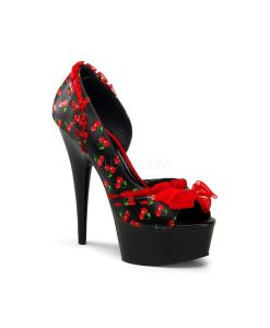 zapato estampado cerezas pin up