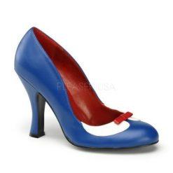 Zapato estilo retro con punta redonda y lazo decorativo frontal