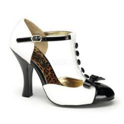 Zapato retro con punta redonda y lazo frontal