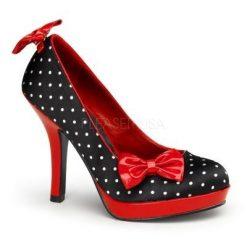 Zapato linea retro con estampado de lunares y lazos