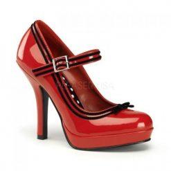 Zapato linea retro con tira en empeine y lineas en contraste