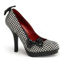 Zapato linea retro con estampado de cuadros y lazos