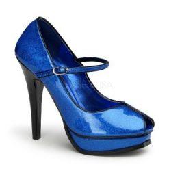 Zapato linea retro de charol con tira en empeine y punta semiabierta