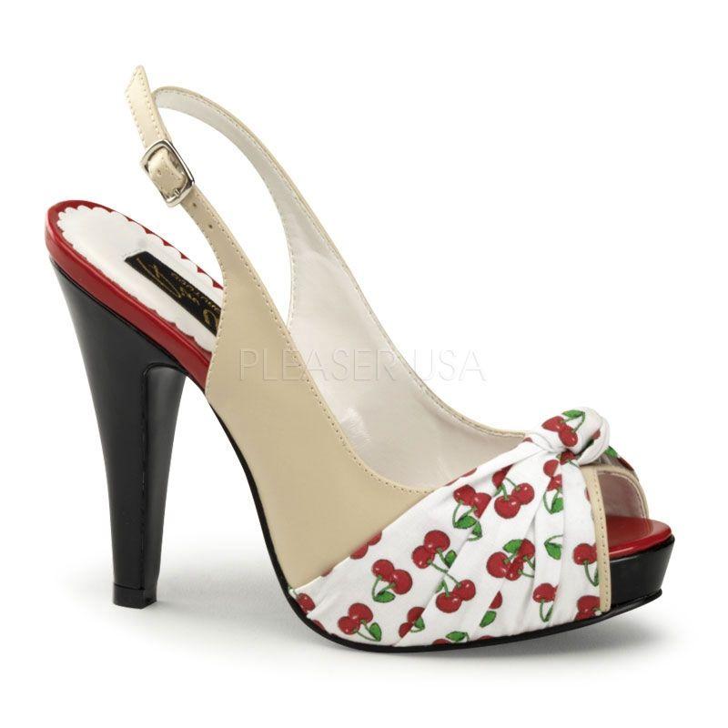 Sandalia forrada en punta con cerezas