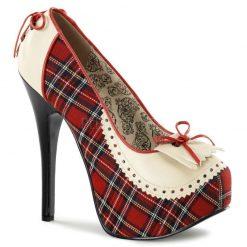 Coquetos zapatos Teeze de Bordello en tejido tartán