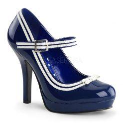Zapato linea retro y correa en empeine con lineas en contraste