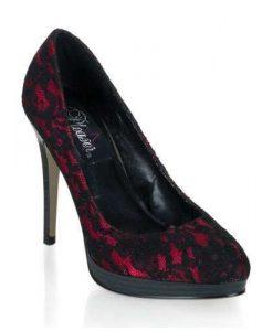 Zapato clasico con plataforma y encaje