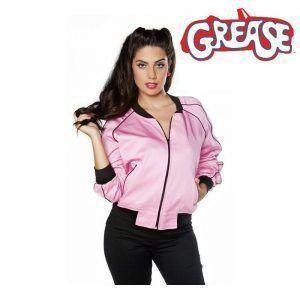 Foto chaqueta béisbol rosa grease