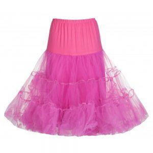 falda enagua rosa