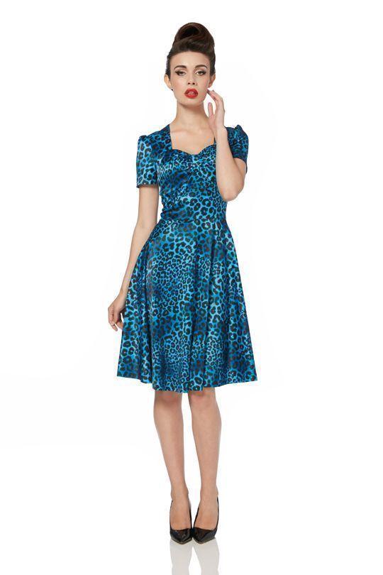 foto vestido leopardo azul
