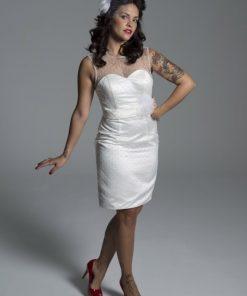 Vestido de novia corte recto años 50