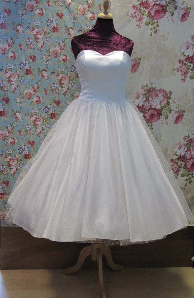 Vestido de novia años 50 palabra de honor