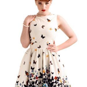 vestido estampado mariposas