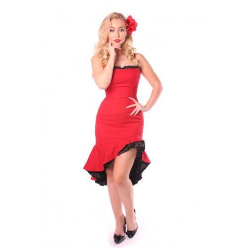 Vestido rojo pinup aire español