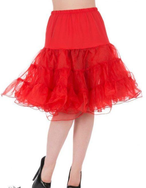 falda enagua roja