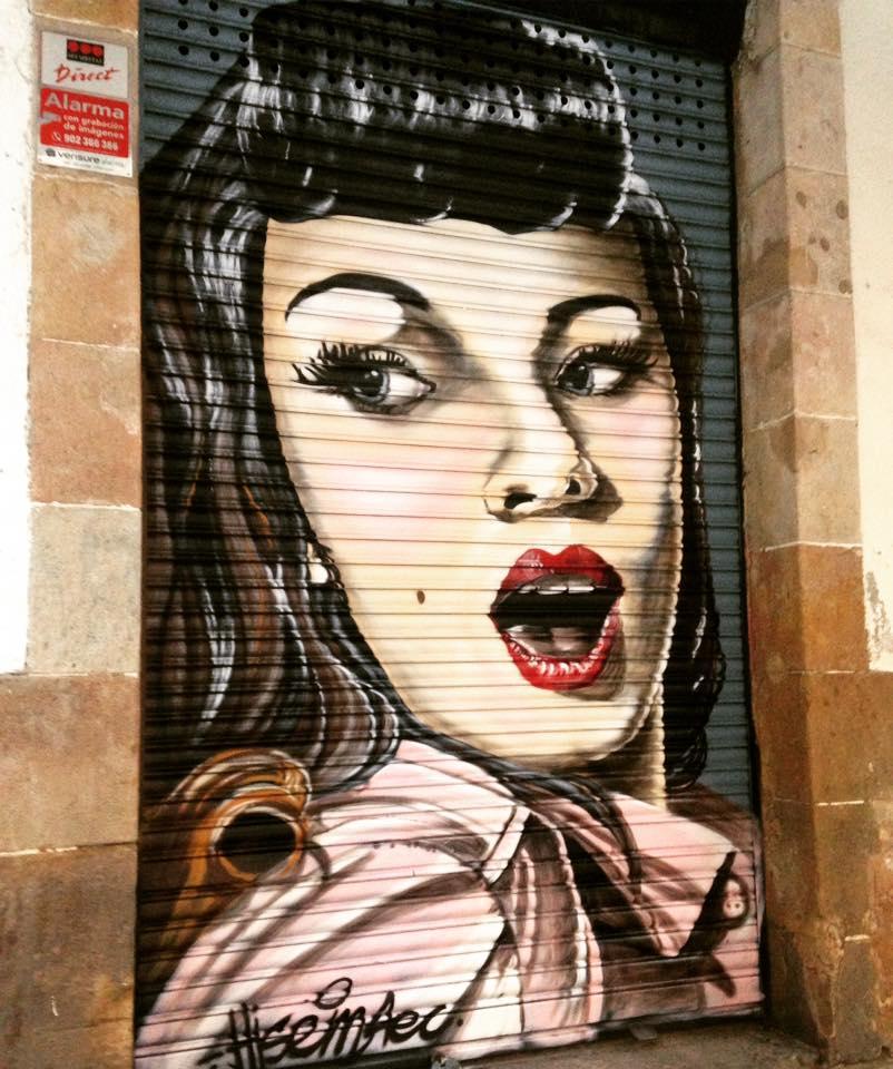 Graffiti realizado por Hisemone