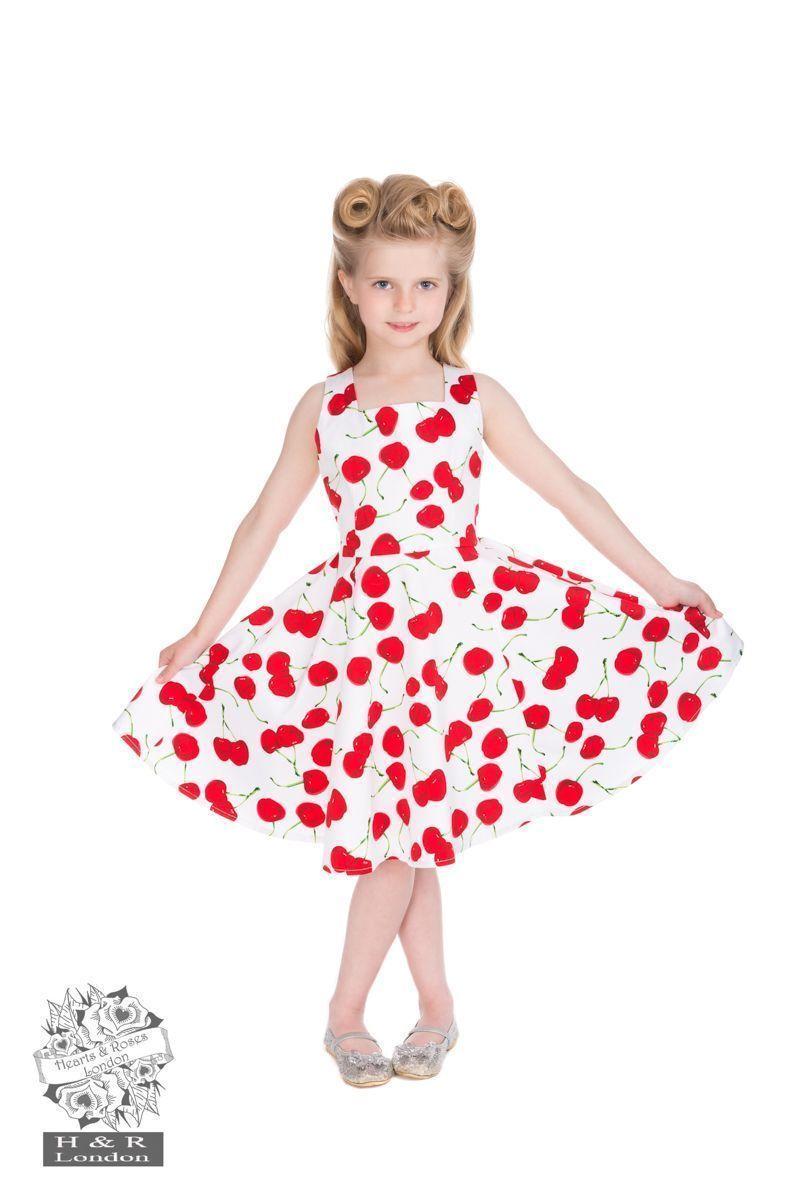 Vestido de vuelo años 50 niñas 3-4 años - Moda Pin Up 50\'S