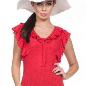 blusa roja pin up