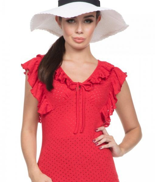 blusa roja pin up
