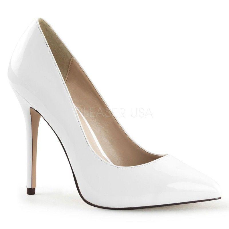nueva productos 23dfe 383e5 Elegantes zapatos de charol brillante con punta fina y tacón de aguja