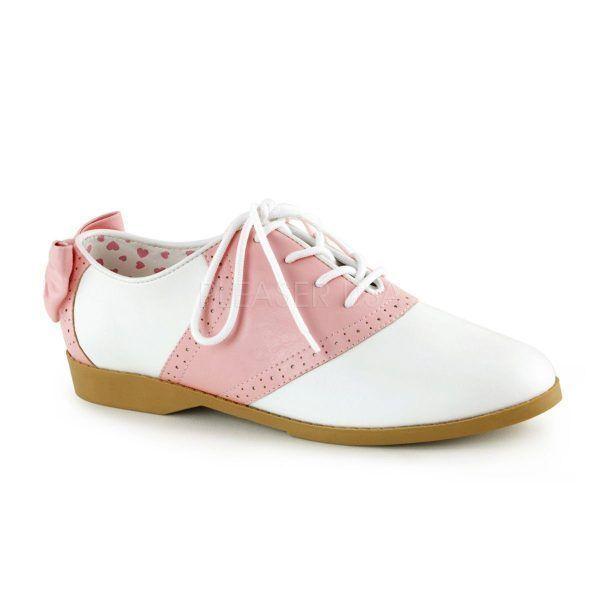 zapatos-bajos-de-cuero-sintetico-en-dos-tonos-acordonados-y-con-lazo