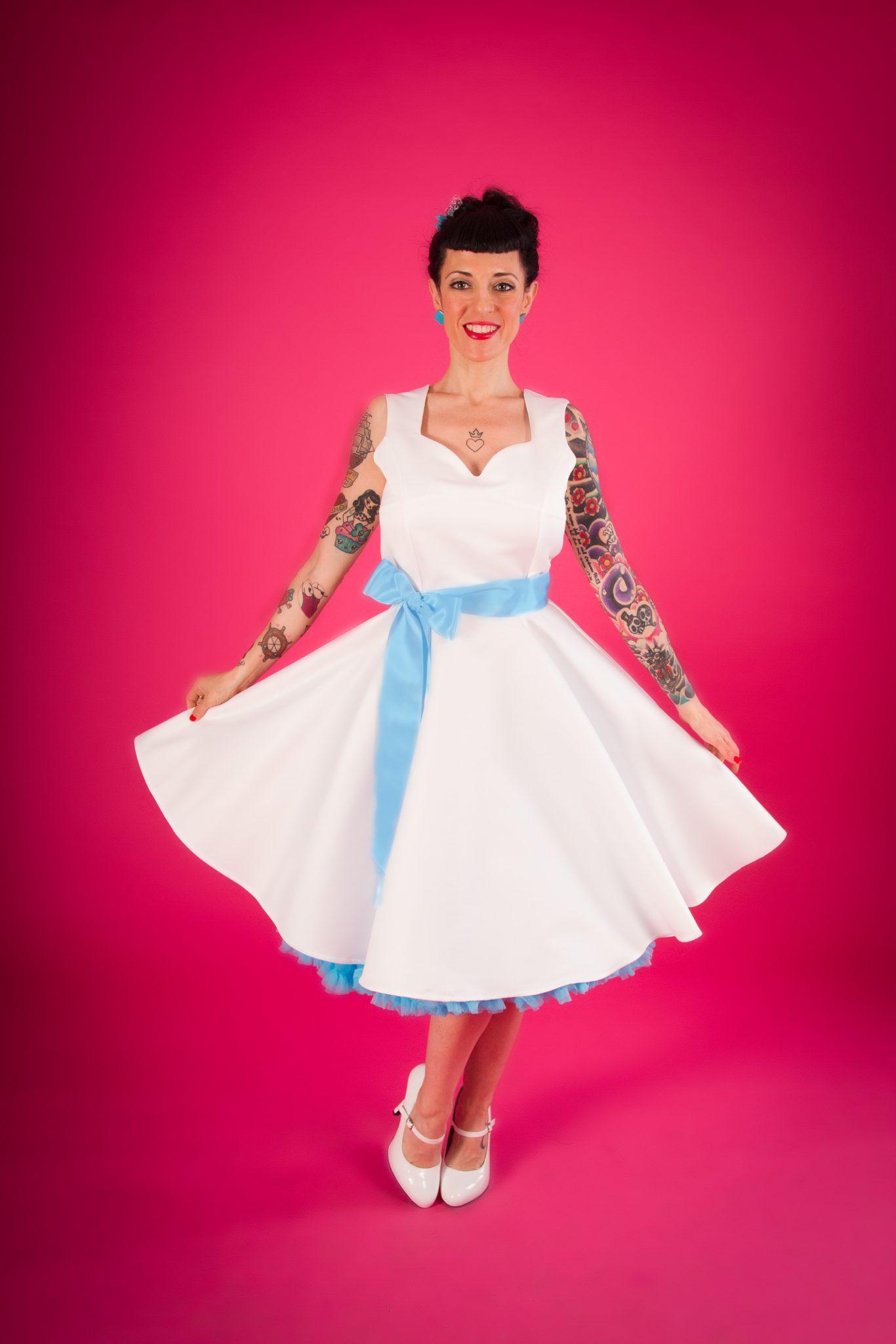 ELISABETH Vestido de novia Pinup escote corazón