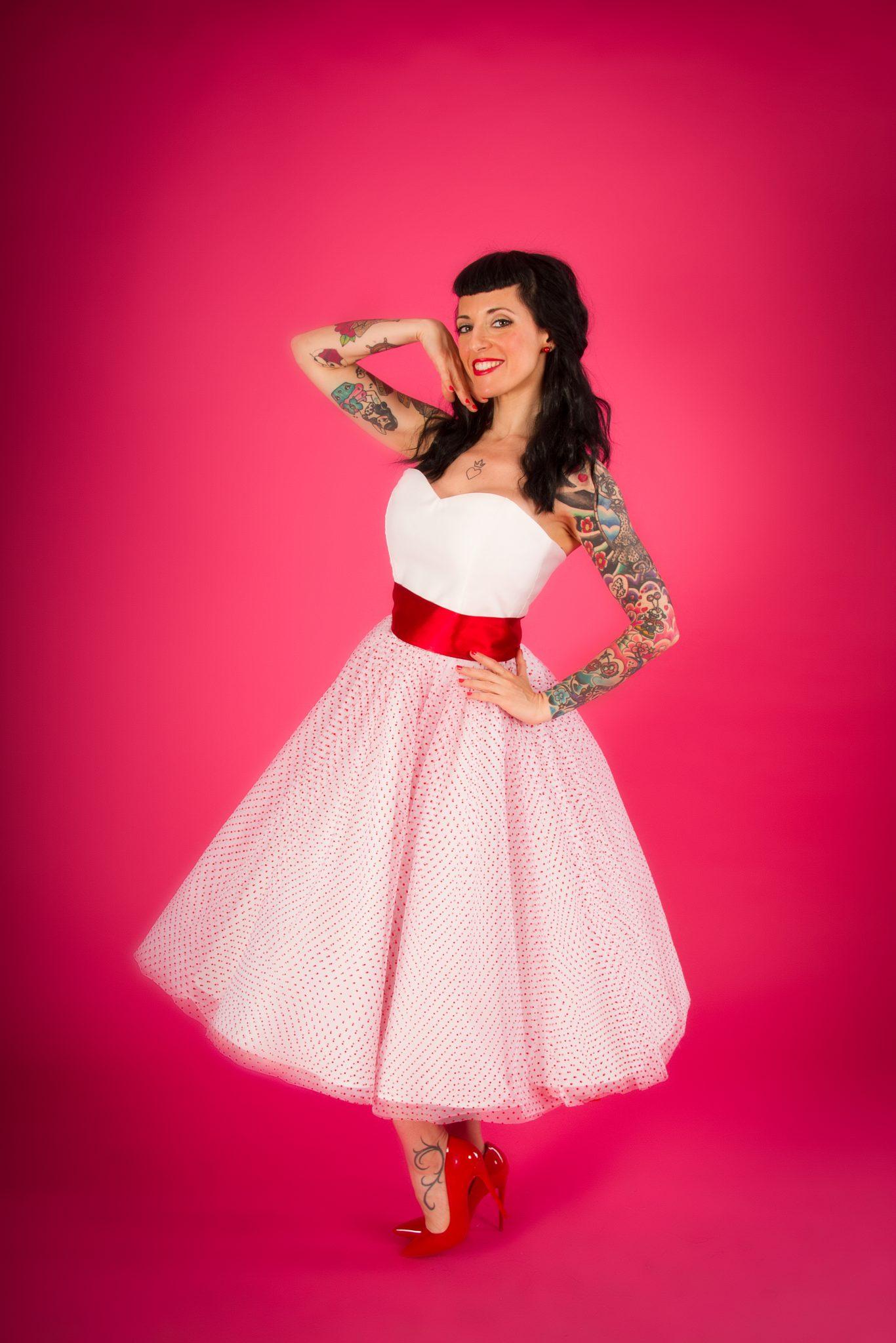 Vestido de novia años 50 palabra de honor - Moda Pin Up