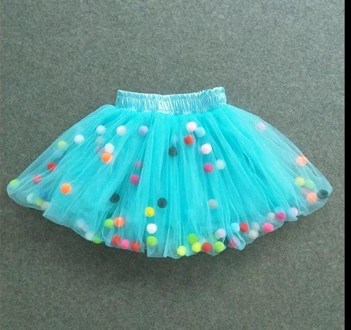 218931f3d Falda tutu niña con bolitas de colores