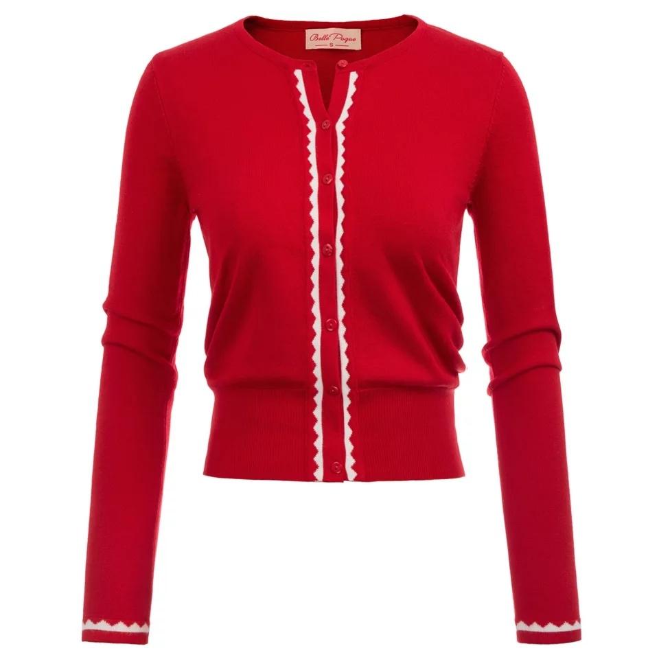 chaqueta punto roja