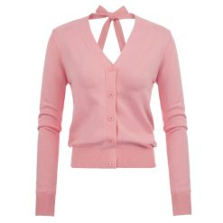 chaqueta punto rosa