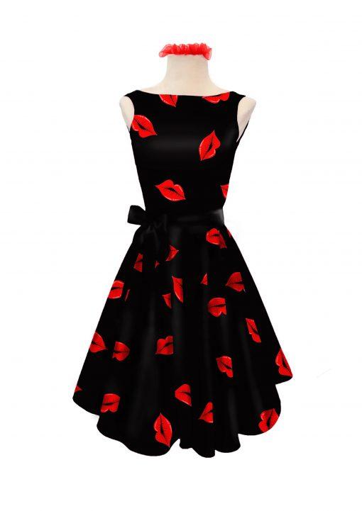 vestido-estampado-labios-rojo