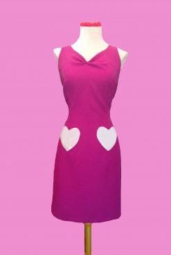 vestido ajustado bolsillos corazones