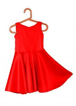 vestido fiesta niña rojo