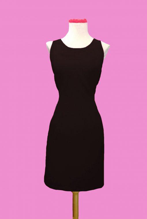 vestido pinup ajustado negro