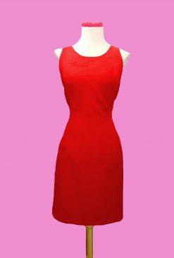 vestido pinup ajustado rojo